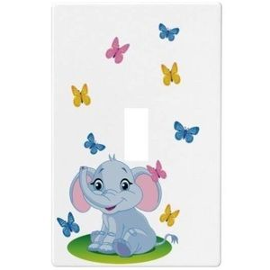 "🐘3""x5"" Baby Elephant Single Light Switch Plate🐘"